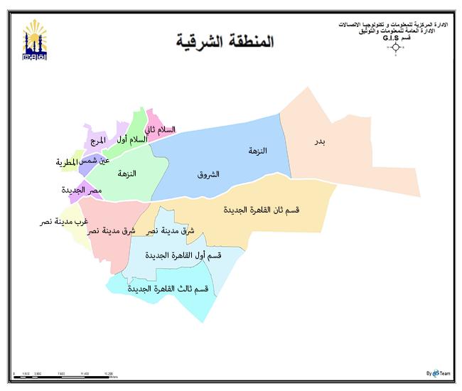 خريطة المنطقة الشرقية