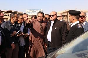 جولة ميدانية لمحافظ القاهرة بحلوان