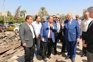 محافظ القاهرة يتفقد أعمال تطوير شارعي الحجاز بمصر الجديدة والنزهة