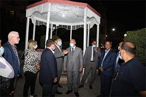 محافظ القاهرة يفتتح أعمال تطوير حديقة غرناطة بميدان روكسي