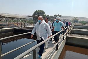 محافظ القاهرة يتفقد وحدة معالجة الصرف الناتج عن مخلفات الذبح